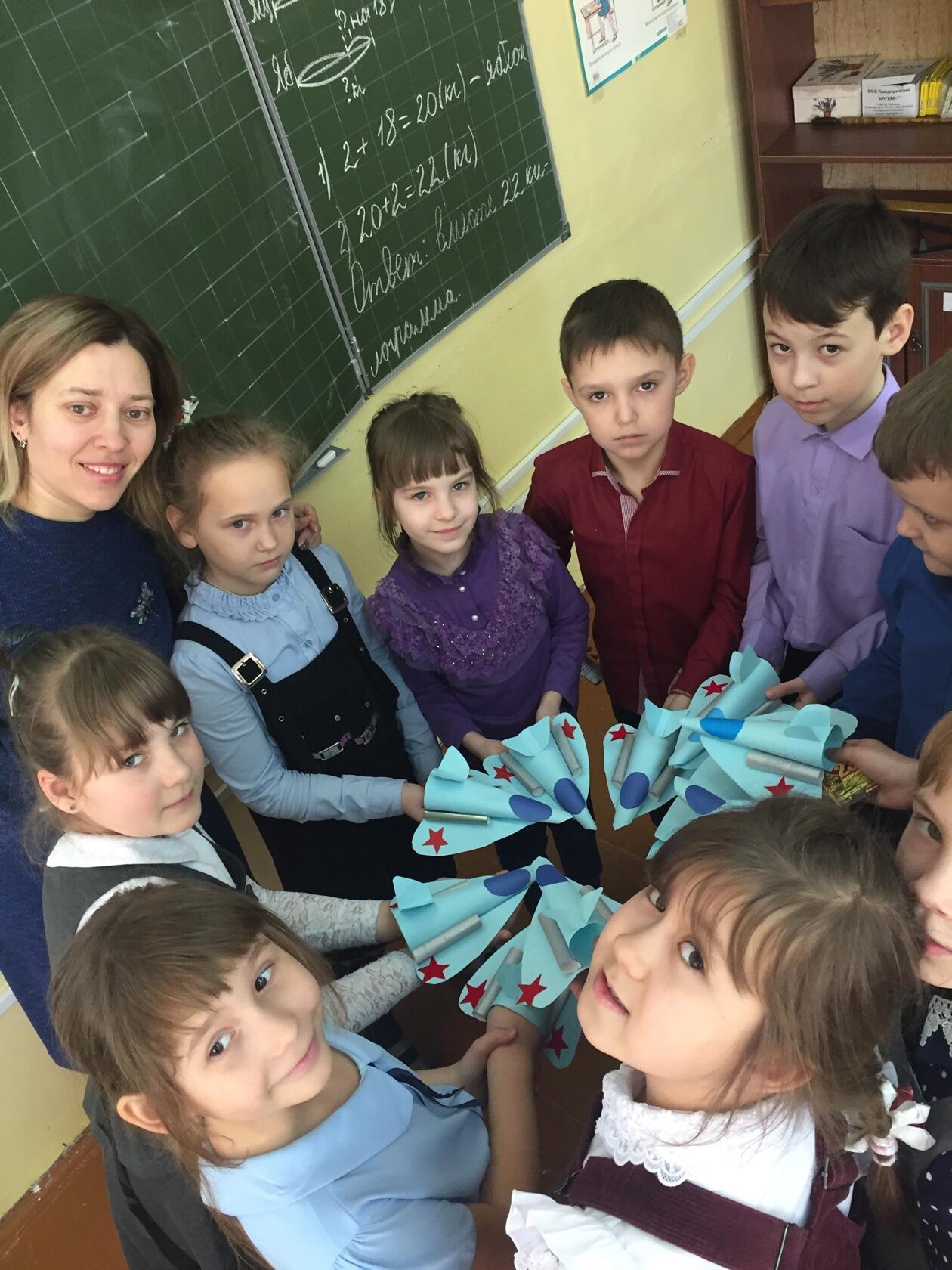 мастер-классы к 23 февраля для учащихся СОШ №17, №14, №8